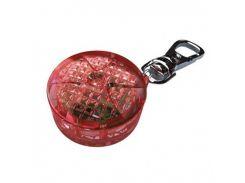 Trixie (Трикси) Брелок мигающий для собак и кошек красный, пластик 2,5см