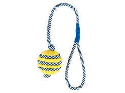 Trixie (Трикси) Игрушка для собак мяч литой на светоотражающем канате, каучук 5см*40см