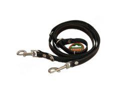 Перестежка ременная для собак черная 2,03мм*25мм
