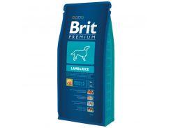 Brit (Брит) Полнорационный гипоалергенный корм для собак с чувствительным пищеварением Brit Premium Lamb Rice 15кг