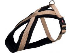 Trixie (Трикси) Шлея на подкладке бежевая нейлоновая для собак Premium XS-S 30-40см*15мм