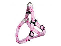 Trixie (Трикси) Шлея-петля для собак Модерн Арт розовое сердце XS-S 30-40см*15мм