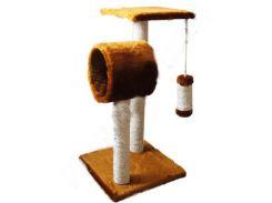СИЗАЛЬ Когтеточка для кошек ДРП Омега 38*38*70 (коричневая)
