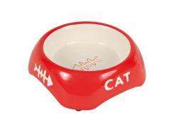 Trixie (Трикси) Миска керамическая для кошек Рыбья кость 200мл*13см