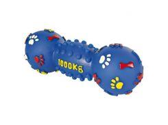 Trixie (Трикси) Игрушка для собак гантель с пищалкой, винил 25см