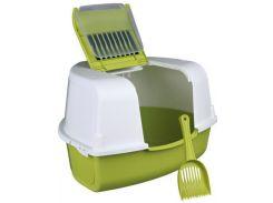 Trixie (Трикси) Туалет для кошек угловой с дверью и лопаткой Tadeo Open Top 58*38*50 50см