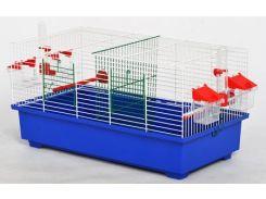 ЛОРИ Клетка для птиц Дуэт-мини цинк 560*300*290
