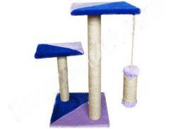 СИЗАЛЬ Когтеточка для кошек ДРП Альфа 2 столба, 2 лежака 38*38*70 (микс)