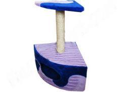 СИЗАЛЬ Когтеточка для кошек ДРП-ДУ1 Угловая будка с лежанкой 40*40*65 (волна)
