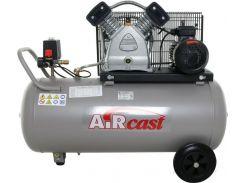 Компрессор AiRcast СБ4/С-100.LB30 ременной двухцилиндровый