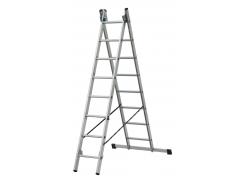 Лестница ELKOP VHR Trend 2x8 алюминиевая, 2 секции, 8 ступеней