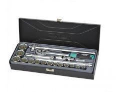 "Набор головок Whirlpower 1/2"" 10-32 мм 19 ед. 12 гр в металическом кейсе"