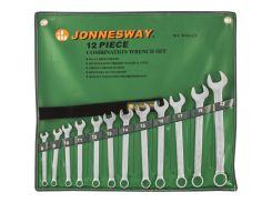 Набор комбинированных ключей Jonnesway 8-22 мм, 12 шт в чехле