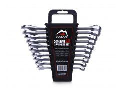 Набор комбинированных ключей Vulkan 10-19 мм, 10 шт в футляре