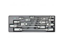 Набор торцевых ключей Whirlpower 8-22 мм, 7 шт с карданом