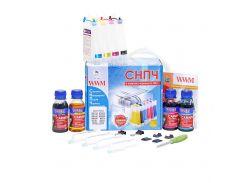 система непрерывной подачи чернил wwm is.0124u для canon pixma mg2140/mg2240/mg3140/mg4140 c чернилами carmen