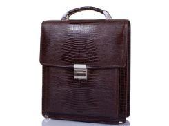 кожаный мужской портфель мужской кожаный desisan shi5009-142 темно-коричневый