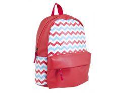подростковый школьный рюкзак 1 Вересня smart st-15 broken lines (553519)