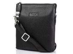 мужская кожаная сумка борсетка karya shi0651-45 черная с ремнем