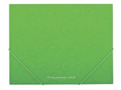 Папка пластиковая А5 на резинках, barocco, салатовый bm.3902-15