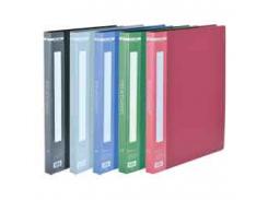 Папка пластиковая c 40 файлами А4, синий bm.3617-02