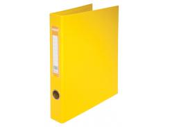 Папка на 2-х кольцах, А4, ширина торца 30мм, желтый bm.3101-08