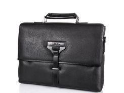 Кожаный мужской портфель с отделением для ноутбука h.t(ЭЙЧ ТИ) tu7891-1-black
