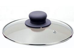 универсальная стеклянная крышка petrum itq1055 26см italiqum glass с съемной ручкой