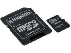 карта памяти kingston microsdhc 32 Гб class 4 + sd adapter (sdc4/32gb)