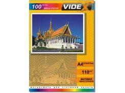 фотобумага videx матовая 110 гр. А4*100