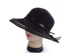 женская шляпа del mare 041701-043-01 черная с лентой