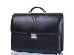 мужской кожаный портфель desisan 317-011 черный с отделением для ноутбука