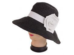 женская шляпа del mare 041401037-01 с белым бантом 56-57 см