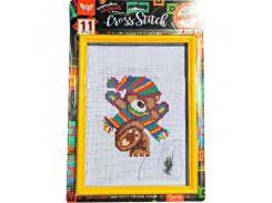 набор креативного творчества Вышивка крестиком на канве cross stitch danko toys vkb-01-01,02