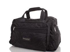 спортивно-дорожная сумка с ножками onepolar wb807-black черная на 45 литров
