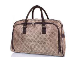 дорожная сумка с ручками eterno tu09-12 коричнево-бежевая на 28 литров