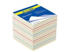 Блок бумаги РАДУГА jobmax 90х90х70мм, не склеенный bm.2249