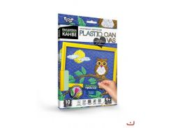 набор креативного творчества Вышивка на пластиковой конве danko toys pc-01-10 plastic canvas