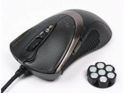 игровая проводная мышь a4 tech f4 usb black 3000 dpi