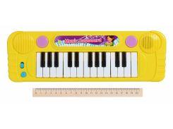 детский музыкальный инструмент same toy Электронное пианино fl9301ut желтое