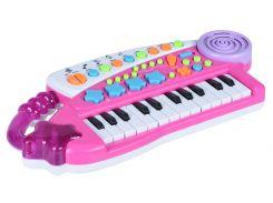 музыкальный инструмент same toy Электронное пианино bx-1606ut розовое