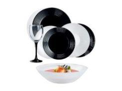 Сервиз luminarc harena black&white /24 пр. (n2243 )