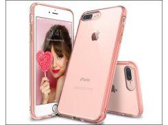 чехол ozaki oc747pk o!coat crystal+dual crystal с shock-protection для iphone 7/8 plus pink