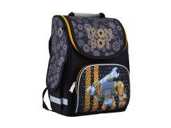 школьный каркасный рюкзак 1 Вересня smart pg-11 iron bot для мальчика (554537)