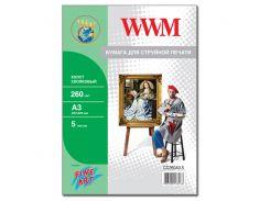 Холст wwm натуральный хлопковый, 260г/м кв, a3, 5л (cc260a3.5)