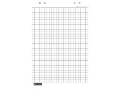 Блок бумаги для флипчартов buromax bm.2297 20 листов в клетку 64х90см