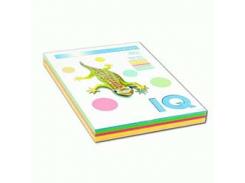 Набор цветной бумаги неон А4 iq a4.80.iq.rb04.200 4 цвета по 50 листов 200 листов