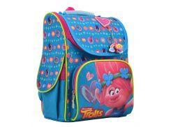 каркасный школьный рюкзак 1 Вересня h-11 trolls turquoise (555162)