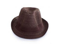 соломенная мужская шляпа del mare 041301-093-32 темно-коричневая