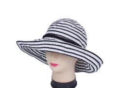 женская шляпа с широкими полями del mare 041801.027-02.01 черно-белая